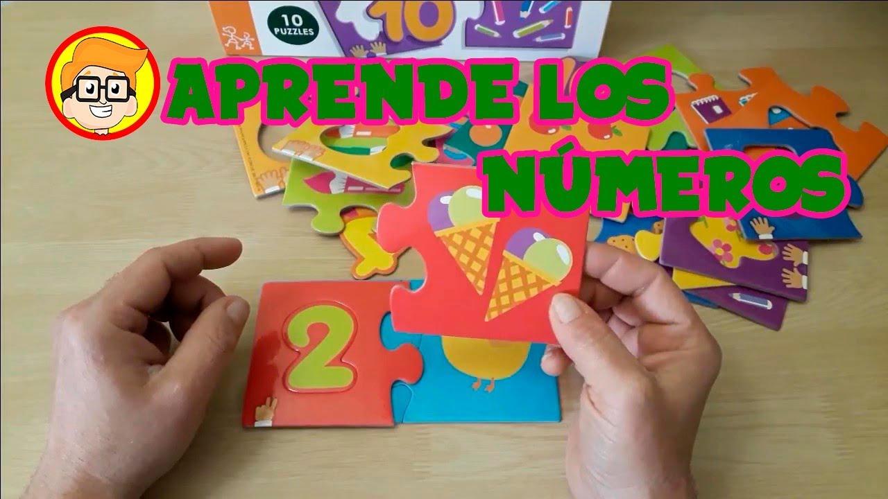 Como aprender a contar del 1 al 10 con un puzzle o rompecabezas  de números