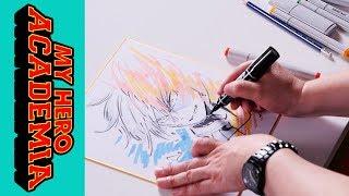 Anime Speed Drawing - My Hero Academia, ❄️Todoroki🔥