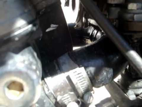 Goldwing running single Solex carb with PVC manifold