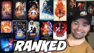 Ranking ALL Star Wars Movies From Best to Worst [My Opinion]