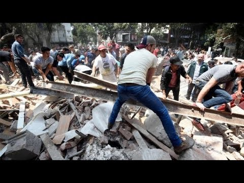 Earthquake in Mexico , Puebla and Mexico City, buildings, tremors, quake,