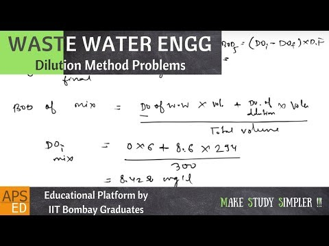 Dilution Method Problems | Waste Water Engineering