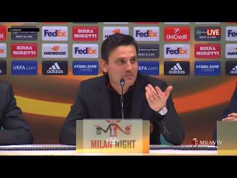 Montella conferenza post Milan   Austria Vienna 5 1 23 11 2017