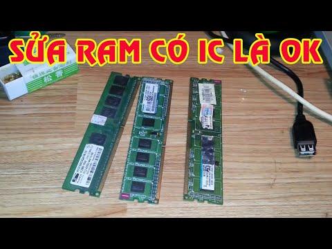 Cách Sửa Ram máy Tính Có Ic Là Thay Được Chứ mấy bệnh bẩn chân Ram lau chùi Thì Quá Đơn giản