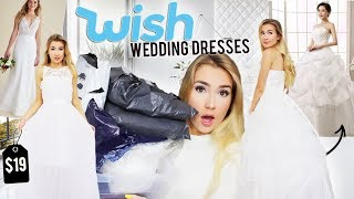 In today's video we are trying wedding dresses from wish!! I post new video's Fridays & Sundays & sometime's Tuesdays! Subscribe here http://bit.ly/2FMI05q  Instagram:  @miamaples Snapchat:  @miamaples Twitter:  @ivorygirl48