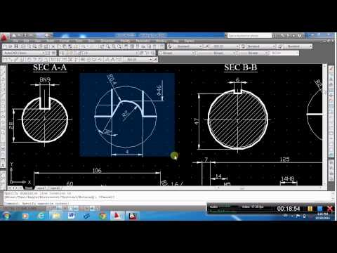 Mechanical Engineering Drawing, lecture 2 (shaft)