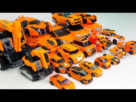Thumbnail: Orange Color Transformers RID Prime Beast Hunters Carbot Tobot Vehicle Transformation Robot Car toy