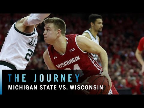 Cinematic Highlights: Michigan State at Wisconsin | Big Ten Basketball | The Journey