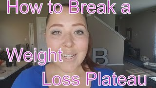 How to Break A Weight Loss Plateau and Healthy Meal Prep
