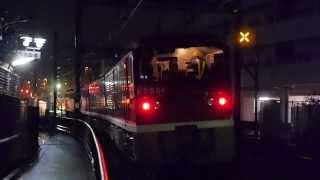 東京都交通局(都営)電気機関車E5000形 検査出場返却回送 京急線内走行