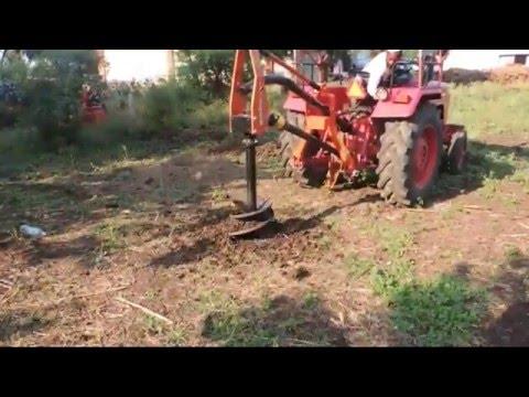 गड्ढे खुदाई करने वाला यंत्र | Tractor PTO Operated Post Hole Digger
