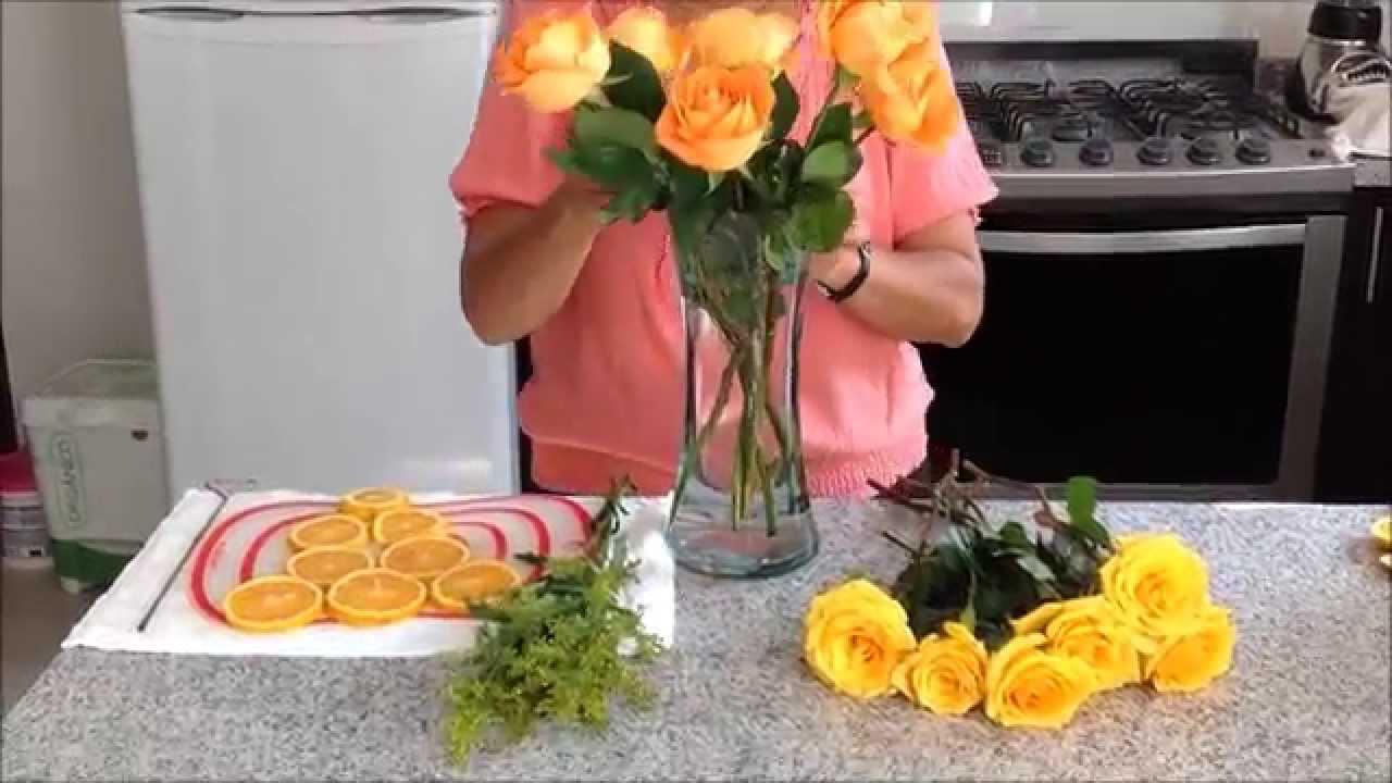 Arreglo Floral Con Naranjas