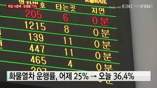 [기차 뉴스]철도 노조 파업! 시민들의 불편