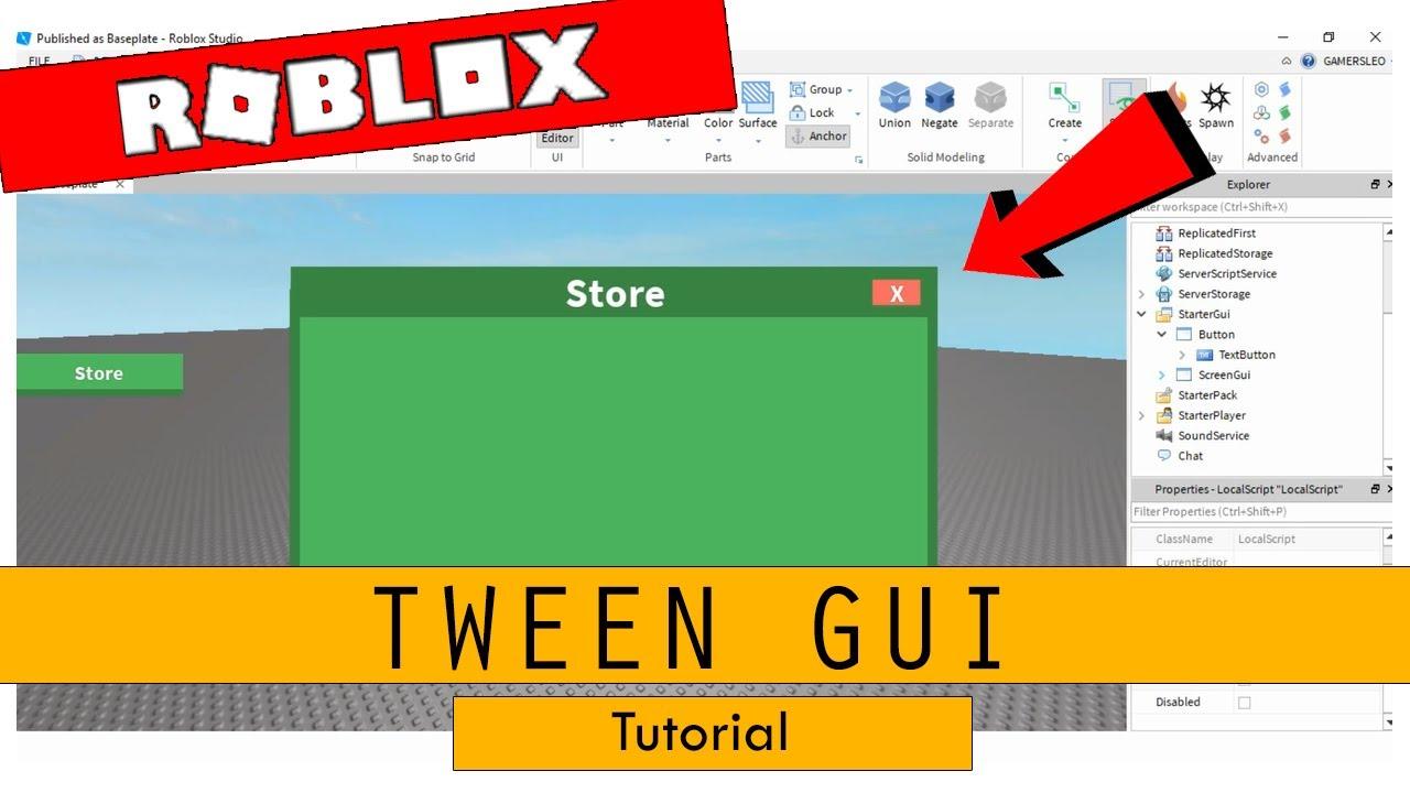 Roblox Studio - How to Tween GUI