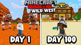 I Survived 100 Days in the WILD WEST in Minecraft Hardcore...