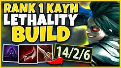 #1 KAYN WORLD FULL LETHALITY SHADOW ASSASSIN - League of Legends