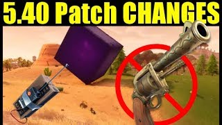 Fortnite 5.40 PATCH CHANGES Update BREAKDOWN (NEW c4, Storm Damage, & More!)