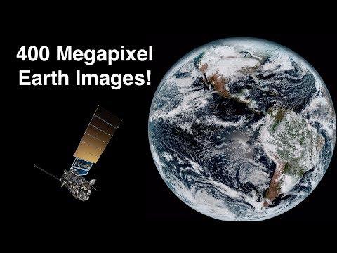How Satellites Capture 400 Megapixel Images Of Earth's Globe - Himawari 8 & GOES-16