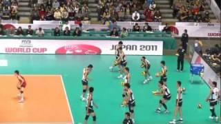 2011 男子バレーボール ワールドカップ 日本VSイタリア 公式練習
