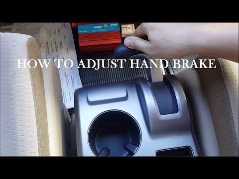 How to Adjust Hand brake / Parking brake Honda CRV 2007 - 2010
