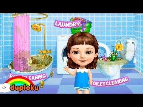 Game Bersih Bersih Kamar Mandi dan Cuci Baju - Game Review Duploku