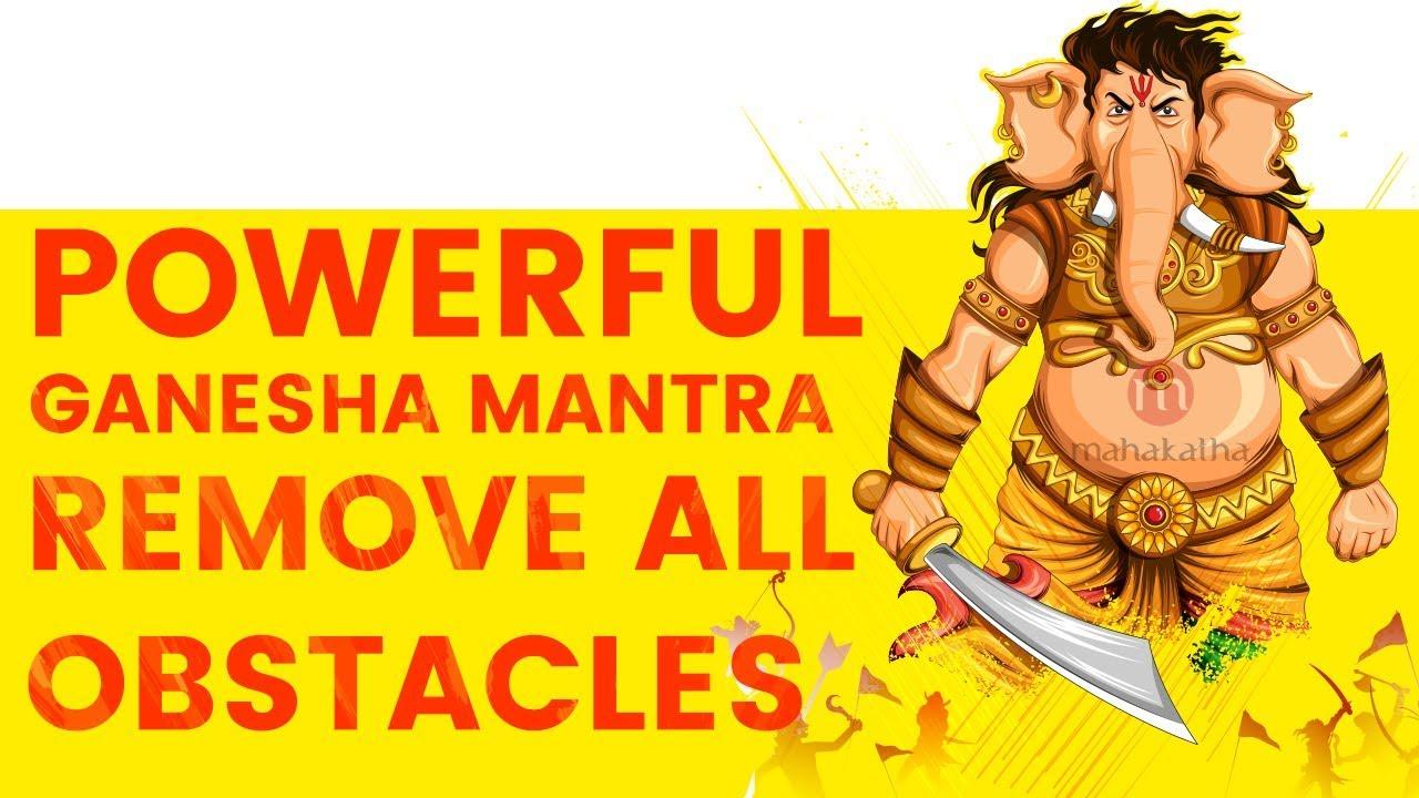 **POWERFUL GANESHA MANTRA TO REMOVE OBSTACLES (2018) | Pranamya Shirasa  Devam Gauri Putram Vinayakam