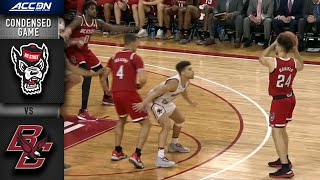 NC State vs. Boston College Condensed Game | 2019-20 ACC Men's Basketball