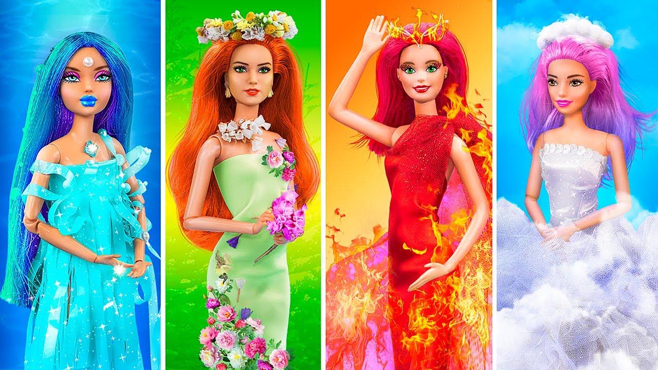 Barbie Lửa, Nước, Khí và Đất/ 16 Cách Làm Đồ Thủ Công Cho Búp Bê Barbie