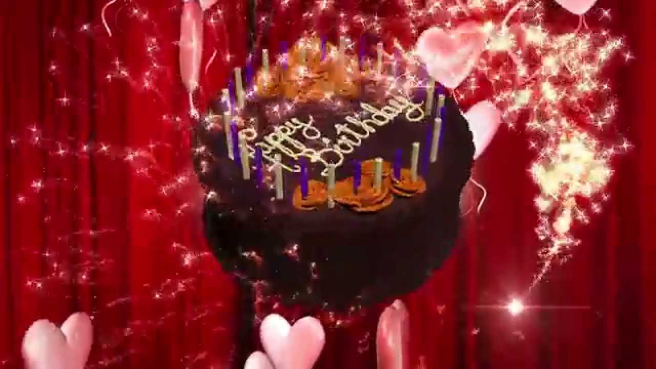 Delightful Happy Birthday Animation 3D HD Motion Graphics Background Loop   YouTube