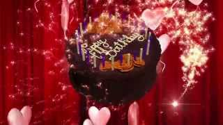Happy Birthday Animation 3D-HD Motion Graphics Background Loop