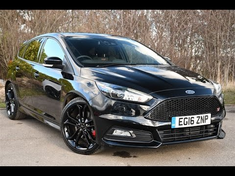 Used Ford Focus 2 0t Ecoboost St 3 5dr Shadow Black 2016