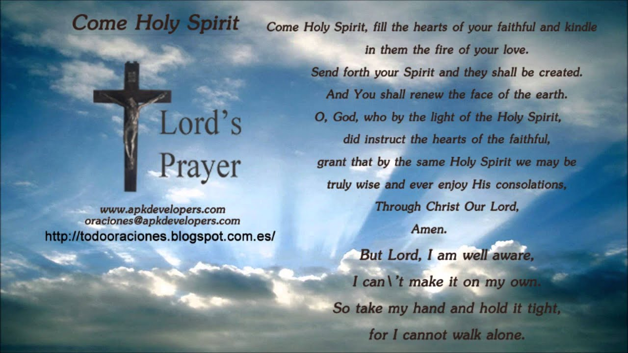 Come Holy Spirit Youtube