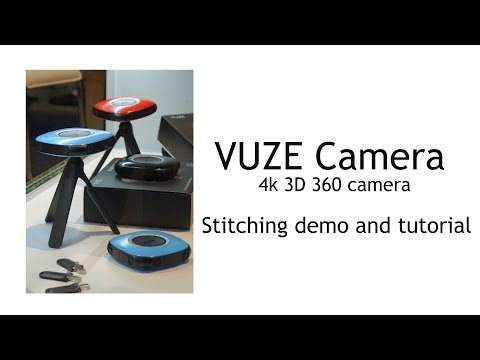 Vuze 3D 360 camera: video stitching and rendering demo and tutorial (new)