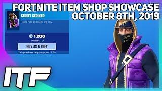 Fortnite Item Shop *NEW* STREET STRIKER SKIN! [October 8th, 2019] (Fortnite Battle Royale)