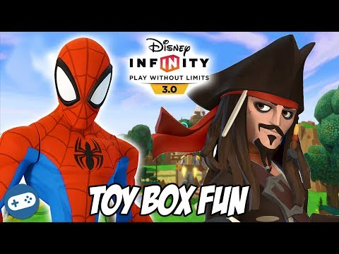 Spiderman and Captain Jack Sparrow Disney Infinity 3.0 Toy B