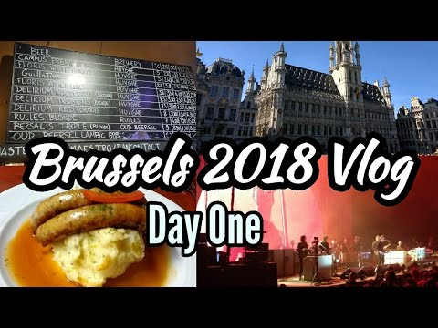 Brussels 2018 Vlog Day One | Noel Gallagher | Forest National | Grand Place | Delirium Cafe
