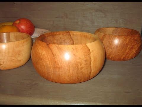 Woodturning - Apple Wood Bowl