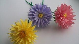 видео хризантема из бумаги