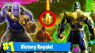 WHAT HAPPENS WHEN A NO SKIN GETS THANOS IN FORTNITE | Thanos Gameplay Fortnite Battle Royale