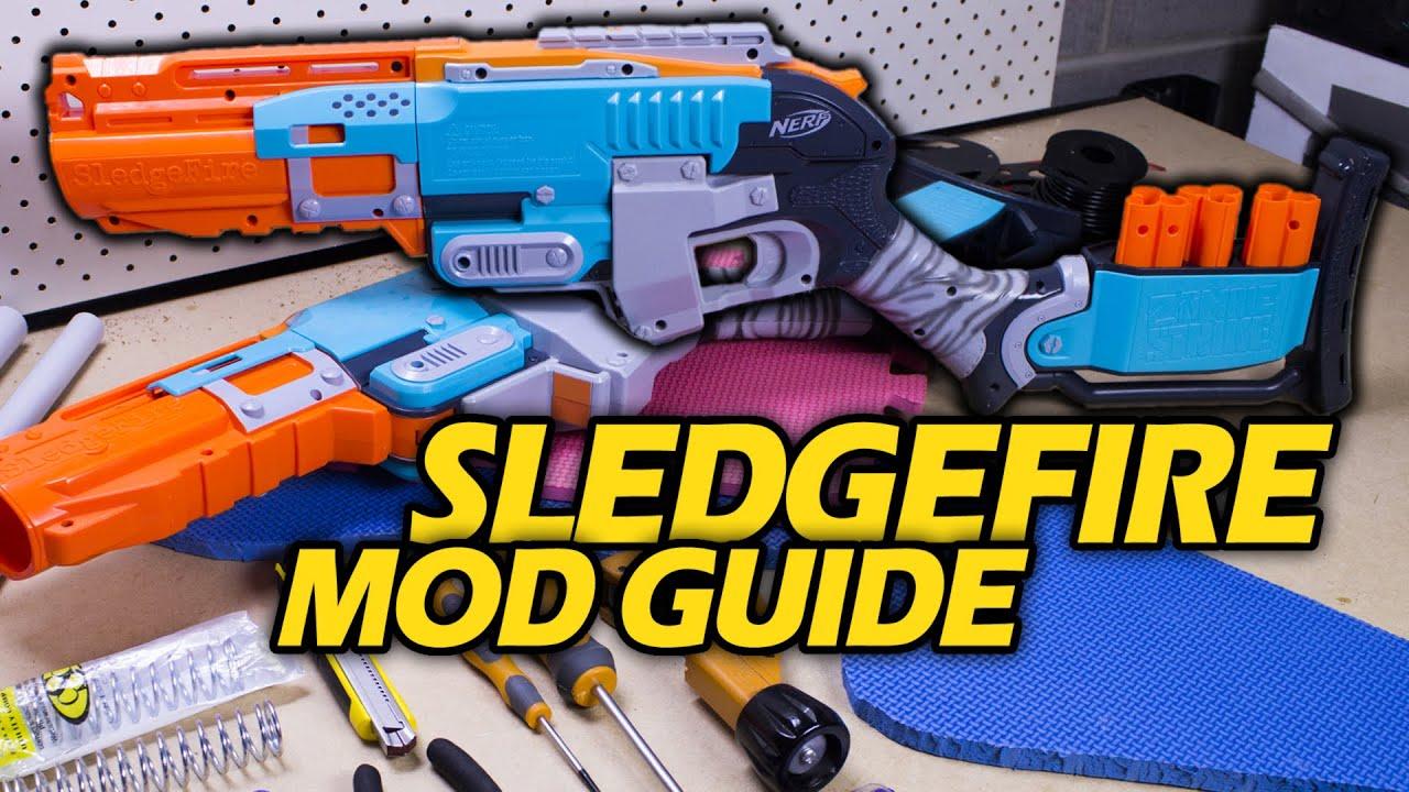 Single Shot Sniper Sledgefire Brass Shell 3D Print Nerf Zombie Sledge Fire Mod