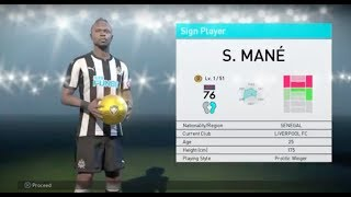 Sadio Mane - UEFA Champions League Stars (Lv. 1) Ball Opening - Pro Evolution Soccer 2018