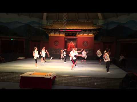 Shaolin Temple Student Training Peformance