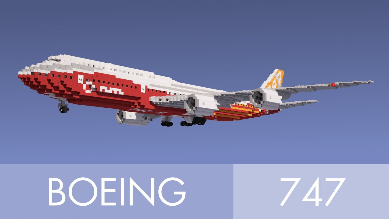 Boeing 747-8f [klm] minecraft project.
