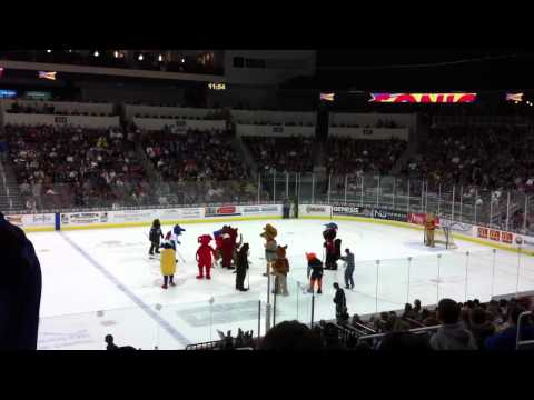 Mascot Broomball at the Wichita Thunder vs Tulsa Oilers - 1