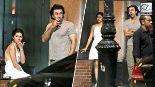 Ranbir Kapoor Spotted Smoking With Mahira Khan In New York | LehrenTV