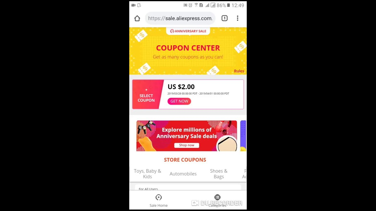 Aliexpress New User Coupon and Aliexpress Select Coupons
