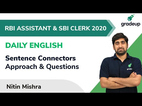 Daily English for RBI Assistant & SBI Clerk 2020 | Connectors | Gradeup