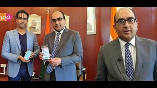 MaaGulf Mobile App launch by H.E Vipul(Consul General Of India,Dubai)