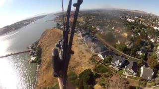 Paragliding Sandy Beach, Vallejo, California 5 July 2014