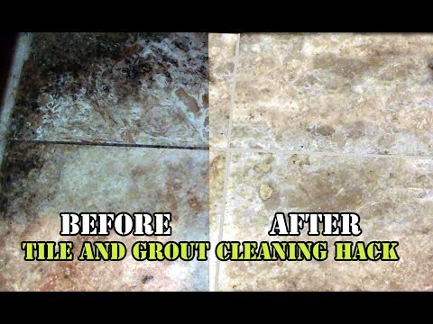 greasy kitchen tile and grout cleaning hack